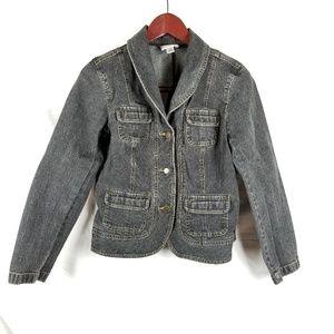 Ann Taylor Loft Petites Denim Jacket Cropped 10P